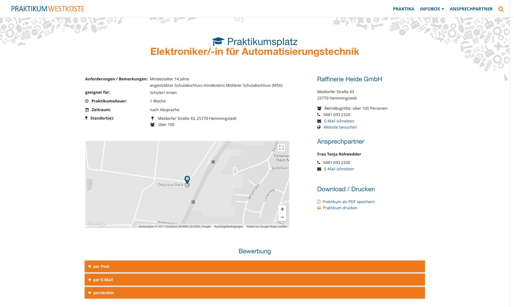 Website praktikum westk ste marohn kommunikation for Praktikum design